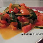 recette Duos de poivrons et courgettes aux épices