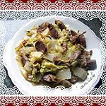 recette chou chinois aux gésiers de canard confits