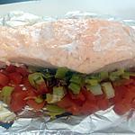 recette Papillotes de saumon, poireaux et tomates