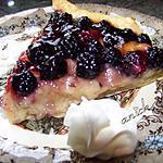 recette tarte crème patissière et  mûres