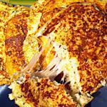"recette Cauliflower grilled cheese "" burger de chou-fleur au fromage"""