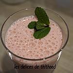 recette milkshake lait ribot et famboises