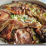 recette Poulet, entouré de légumes, couronné par un mont d'or fondu