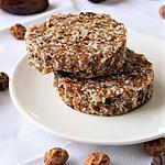 recette Cookies aux fruits secs crus, Bio, sans gluten, sans lait, sans oeufs