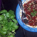 recette Tomates-Scamorza aux basilics frais