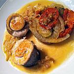 recette Médaillons de bar, sauce safranée et tian de légumes