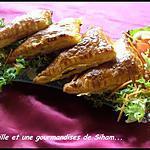 chaussons viande hachée légumes et fromages qui rit!
