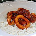 recette Anneaux de Calamars à la sauce tomate