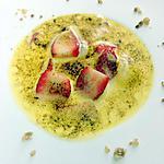 recette Un sabayon au muscat avec les premières fraises