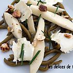 recette salade haricots, poires et noisettes