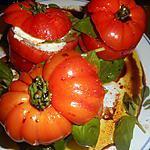 recette Tomates mozzarella en mille-feuilles