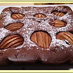 recette Moelleux chocolat mascarpone aux poires