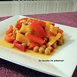 recette Poivrons et pois chiches au safran