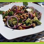 recette Salade de pois chiches et avocats