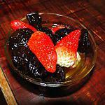 recette Pruneaux en robe rouge