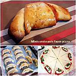 recette Minis croissants façon pizza