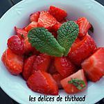 recette salade de fraises, citron et menthe
