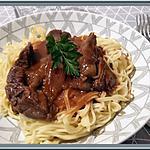 recette Sauté de Boeuf à la sauce Piment Ail et Gingembre
