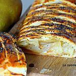 recette Feuilleté aux poires flambées et confiture aux châtaignes