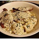 recette Grillades de porc et chou-fleur à la crème de Roquefort