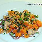recette Poulet au butternut, cajou, cajun et pâtes au sarrasin