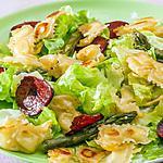 recette Salade de ravioles au chorizo et asperges vertes
