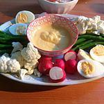 recette Légumes en apéritif, aïoli et mayo maison.