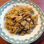 recette Pâtes grecques au poulet et choux pointu