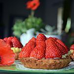 recette Tartelettes aux fraises et au sirop de coquelicot maison