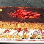 recette Génoise façon tiramisu aux fraises