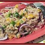 recette Salade de Quinoa aux légumes et thon au Thermomix.