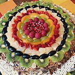 recette Génoise  aux fruits