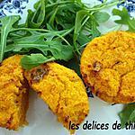 recette flans de polenta au roquefort
