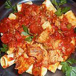 recette Sauté de veau au chorizo