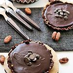recette Tartelettes au chocolat et sa pâte aux dattes-kasha, Bio, sans gluten, sans oeufs, sans lait