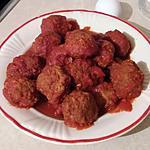 recette Polpette al sugo ou boulettes de viande hachée a la sauce tomate