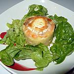 recette Mille feuilles de pomme de terre, saumon et fromage de chèvre