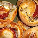 recette rolls salés (jambon/ oignon/ fromage/ olive)