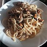 recette Spaghetti aux moules et vongole