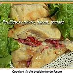 recette Feuilletés chèvre, bacon, tomate