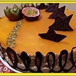 recette Entremet Vanille Passion, brunoise d'Ananas et gelée de mangue
