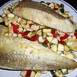 recette Filet de merlu tartare de petits légumes