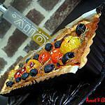 """recette **Tarte rectangulairement savoureuse aux 5 Tomates dont """"Ananas"""" et Oignons Nouveaux Caramélisés **"""