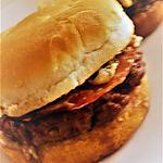 recette Hamburger sauce au poivre et fourme d'Ambert
