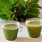 recette soupe aux ortie parfumée au bleu de chèvre