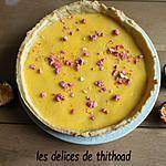 recette tarte aux fruits de la passion et pralines roses
