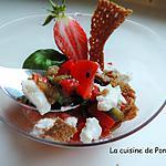 recette Verrine colorée pour une entrée sans gluten