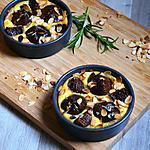 recette Gratin de figues au sirop vanillé à l'armagnac et amandes