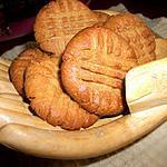 recette BISCUIT CROQUANT AU BEURRE D'ARACHIDE (dakatine)