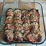 recette GRATIN COURGETTE - TOMATE- ROQUETTE